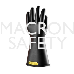 """Class 00 14"""" Rubber Gloves Rated 500 volts"""