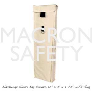 "Blackwrap Sleeve Bag Canvas, 30"" x 9"" x 2 1/2"", w/D-Ring"