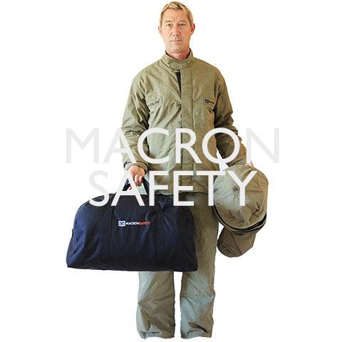 40 cal/cm2 Arc Flash Jacket and Bib Overall Clothing Kit