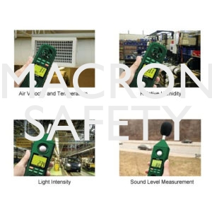 Rugged 5-in-1 Environmental Meter Measures Humidity, Temperature, Air Velocity, Light and Sound