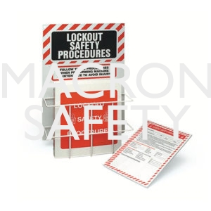 Brady Lockout Procedure Station With Binder & 25 Forms