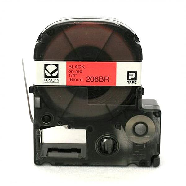 KSun 206BR Black on Red Label Tape